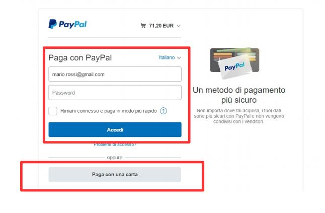 Pagamenti con PayPal